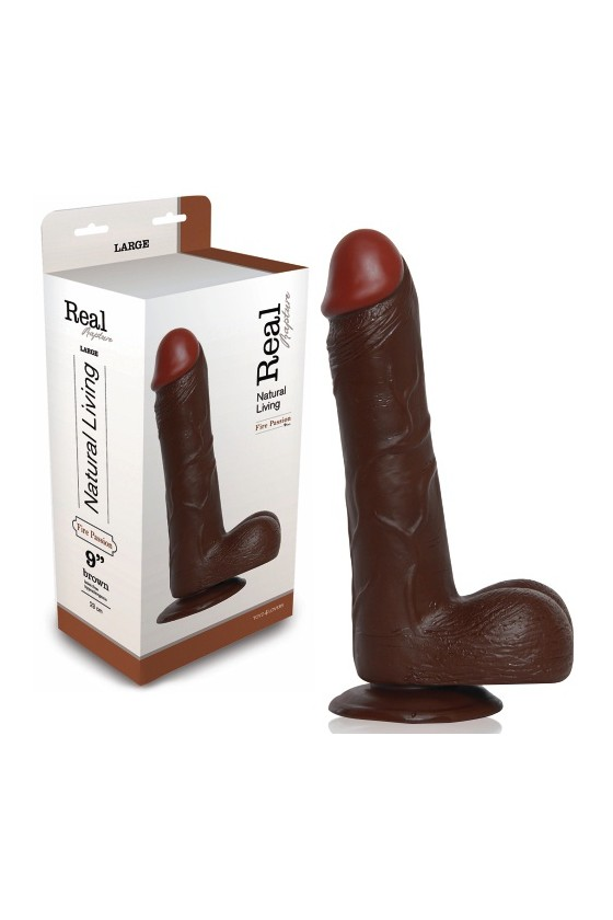 DILDO REALÍSTICO REAL RAPTURE FIRE PASSION 9'' NEGRO